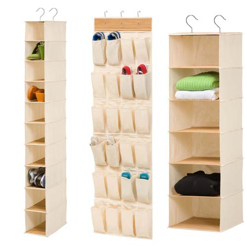 canvas closet storage organizers