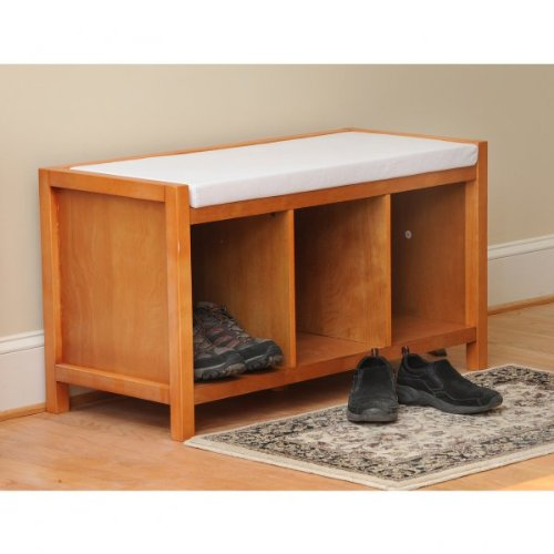 cheap entryway storage bench