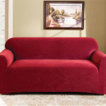 : cheap red couch covers