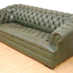: chesterfield sofa bed green