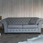 : chesterfield sofa bed grey