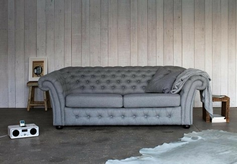 Chesterfield Sofa Bed Grey