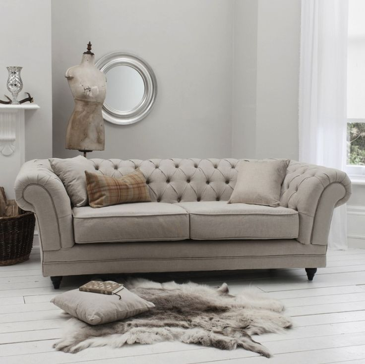 Chesterfield Sofa Bed Mink
