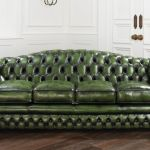 : chesterfield sofa bed used
