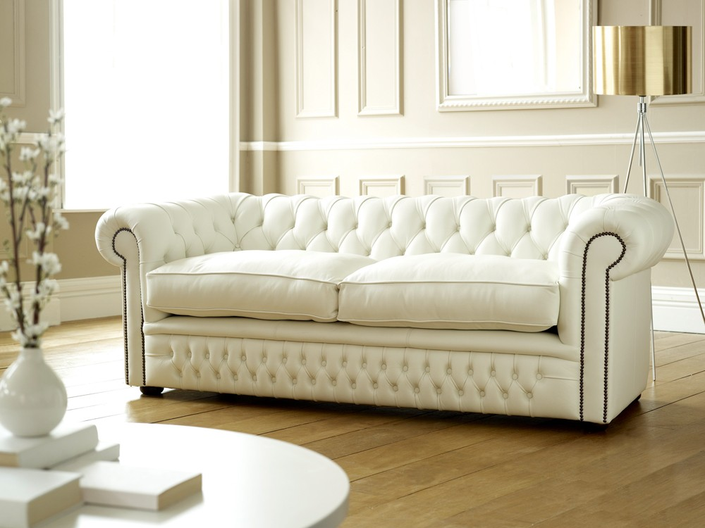 Chesterfield Sofa Bed White