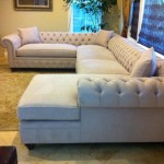 : chesterfield style sectional sofa