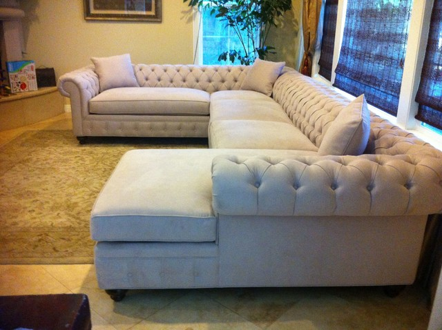 Chesterfield Style Sectional Sofa
