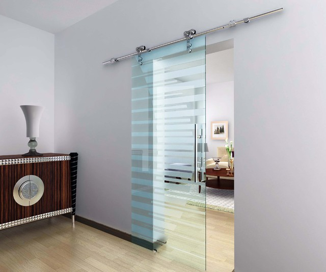 closet door with glass