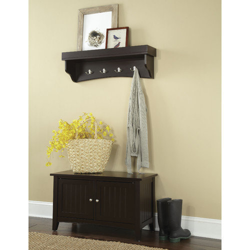 coat hook and storage bench set