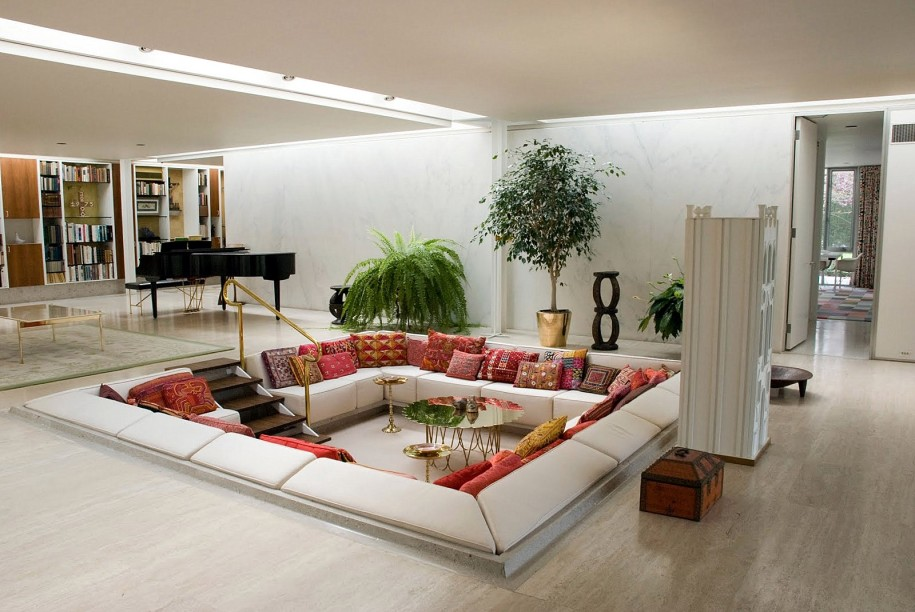 Z Gallerie's modern modular sectional sofa.