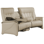 : curved couch with recliners