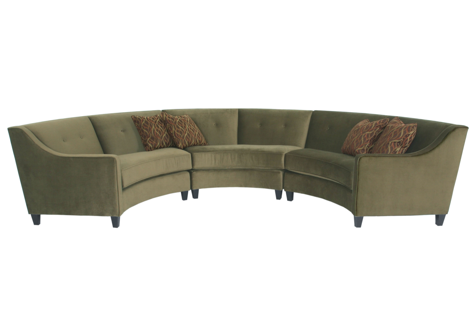 curved couches collection