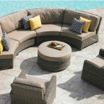 : curved patio couches