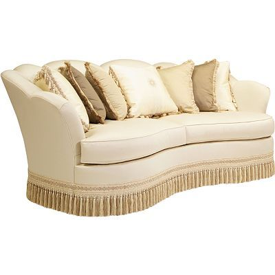 Curved Sofa With Fringe