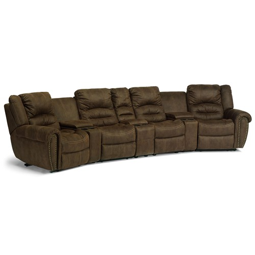 Curved Sofa With Recliner