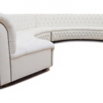 : curved white couch