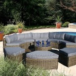 : curved wicker couch