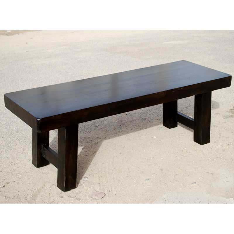 dark wood indoor bench