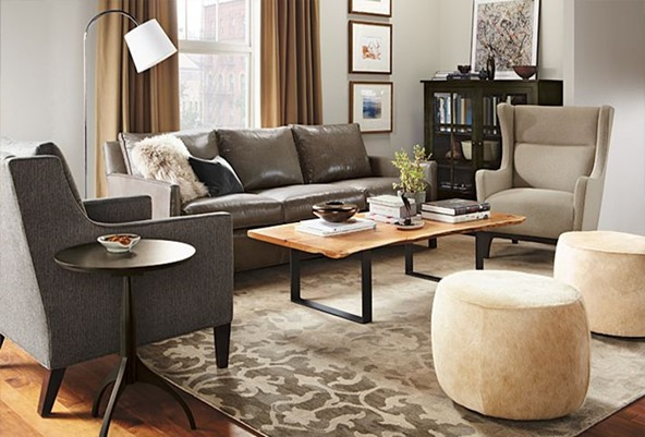 decorating with a grey leather couch
