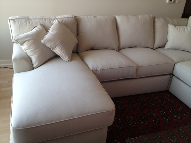 photo gallery of the deep leather sectional couch