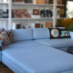 : deep sofa with ottoman