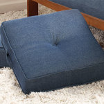 : denim couch pillows