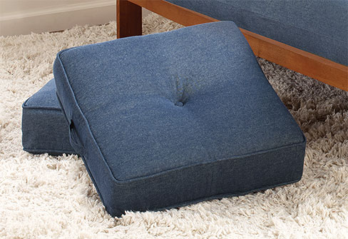denim couch pillows
