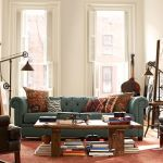 : denim couch pottery barn