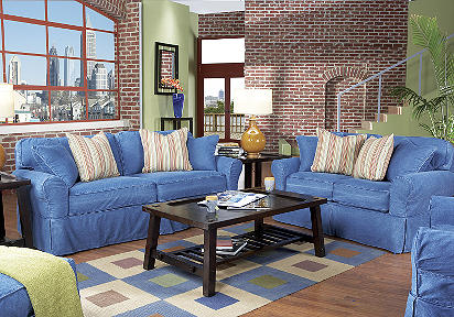 Photo Gallery Of The Denim Couch Pottery Barn