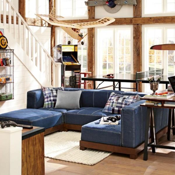Denim Modular Sofa