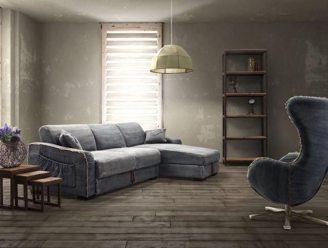 Denim Reclining Sofa