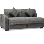 : denim sectional couches