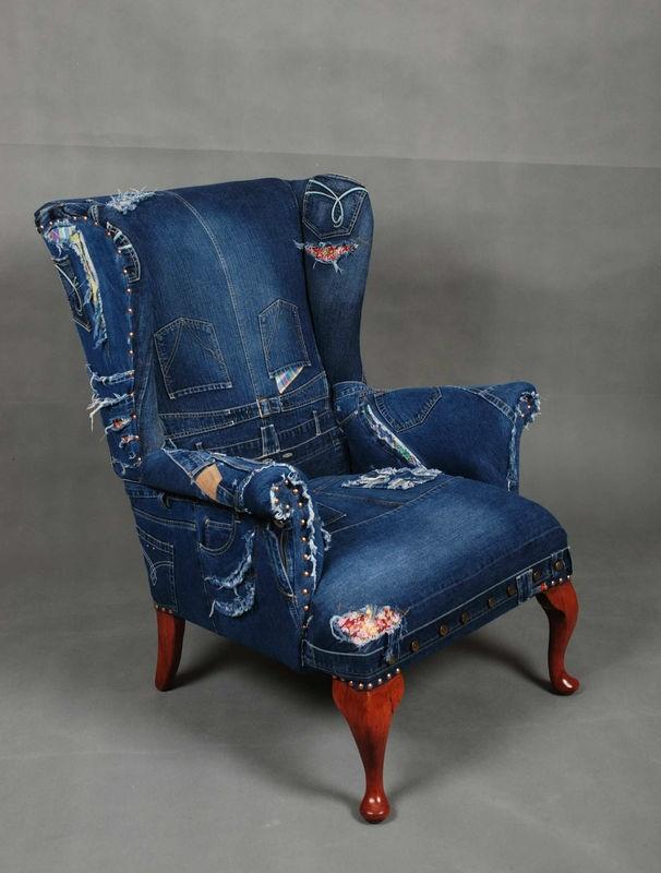 Denim Sofa And Chair