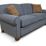 : denim sofa and loveseat
