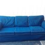 : denim sofa ikea