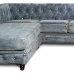 : denim sofa with chaise