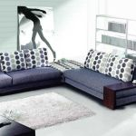 : denim upholstered sofa