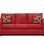 : discount red couches