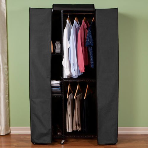 enclosed portable clothes closet