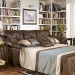 : faux leather sleeper sofa queen