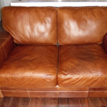 : fix worn leather sofa
