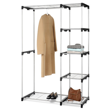 free standing metal wardrobe closet