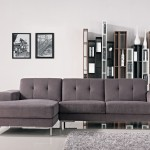 : gray leather sectional couch