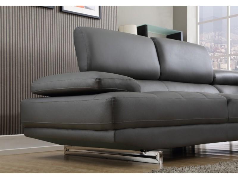 Gray Leather Sofa On Sale