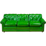 : green leather sofa on sale