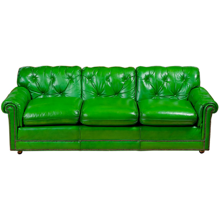 Green Leather Sofa On Sale