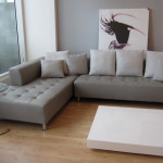 : grey leather sectional ideas