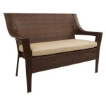 : inexpensive wicker loveseat