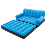 : inflatable double sofa couch air bed with electric pump