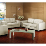 : ivory leather couch and loveseat